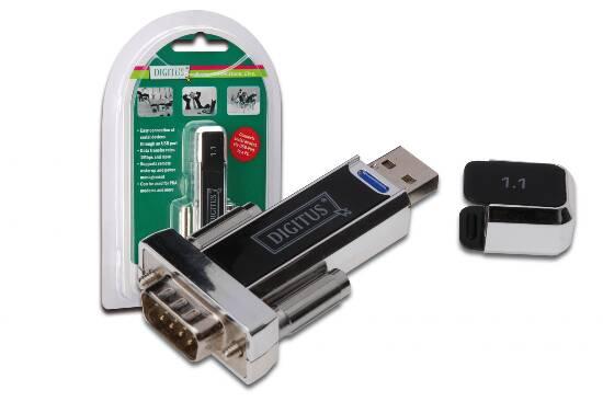 CONVERTITORE DA PC USB 1.1 CON PORTA TIPO  A   - PORTA SERIALE RS232 9  PIN MASCHIO