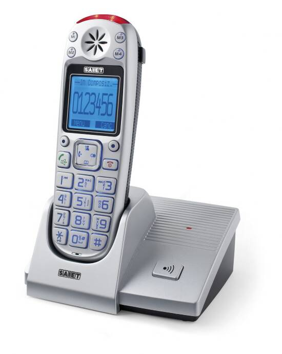 TELEFONO CORDLESS DECT GAP - TASTI GRANDI - DISPLAY GRAFICO