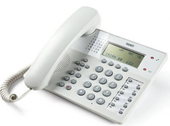 TELEFONO MULTIFUNZIONE - VIVAVOCE - IDENTIFICATORE DEL CHIAMANTE - OFFICE 201 GRIGIO CHIARO