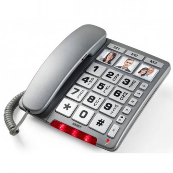 TELEFONO MULTIFUNZIONALE A TASTI GRANDI PERSONALIZZABILE CON FOTO - VIVAVOCE - FAMILY