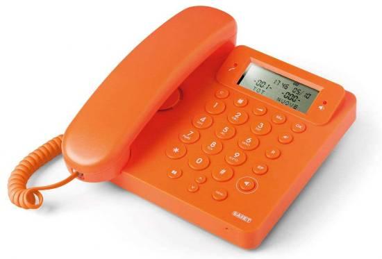 TELEFONO MULTIFUNZIONE - VIVAVOCE - IDENTIFICATORE DEL CHIAMANTE - EGO ARANCIO