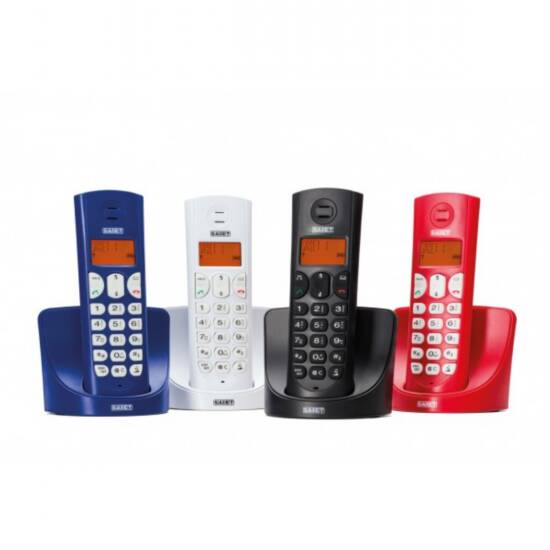 TELEFONO CORDLESS DECT GAP DISPLAY LCD 14 SEGMENTI RETROILLUMINATO  FALCO BLU