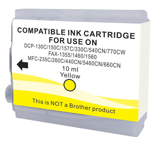 LINK CREATIVE *CARTUCCIA BROTHER LC 1000, LC970, BRLC51,DCP130C,DCP330C,DCP540CN,DCP750CW,MFC845CW, GIALLO COMPATIBILE