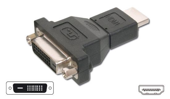 DIGITUS ADATTATORE HDMI 19 POLI MASCHIO / DVI-D24+1 FEMMINA