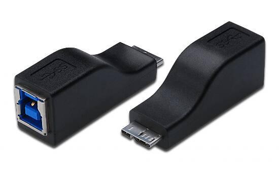 DIGITUS ADATTATORE USB 3.0  CONNETTORI USB (B)  FEMMINA - MICRO (B) MASCHIO