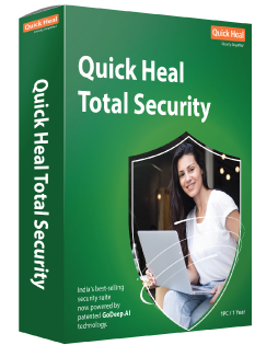 QUICK HEAL QUICK HEAL ANTIVIRUS TOTAL SECURITY, PROTEZIONE PER 1PC - 12 MESI