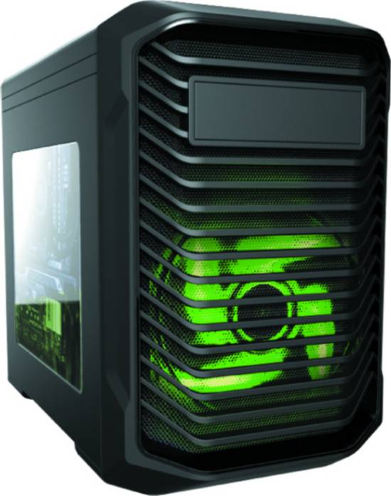 CASE BIGCUBE MICRO ATX, USB 3.0, AUDIO HD, 2 FAN CON LUCE VERDE