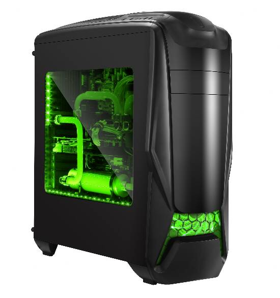 CASE GAMMEC ALIEN NERO ATX 2.0  GREEN LIGHT