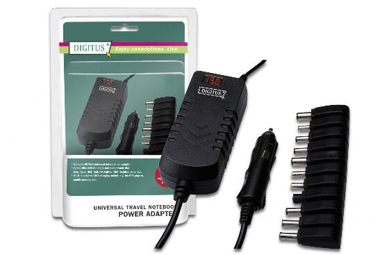 ADATTATORE ALIMENTAZIONE PER NOTEBOOK DA PRESA AUTO CON PRESA USB- 90 WATT