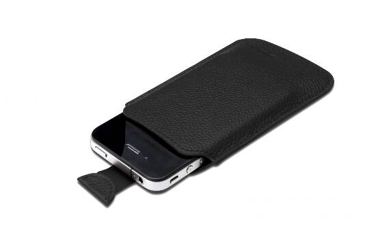 DIGITUS CUSTODIA IN PELLE PER iPHONE 4 E iPOD TOUCH - COLORE NERO