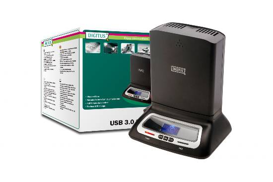 DIGITUS DOCKING STATION USB 3.0 CON VENTOLA E DISPLAY PER HD 2,5