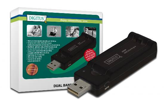 DIGITUS ADATTATORE USB 2.0 WIRELESS 450N DUAL BAND