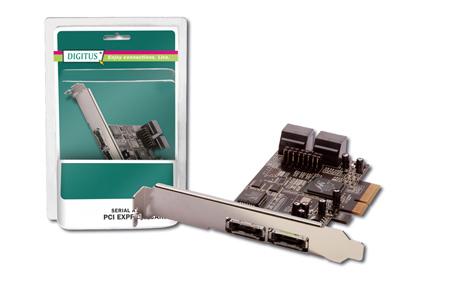 DIGITUS SCHEDA AGGIUNTIVA PCI EXPRESS SATA II CON 4 CONNETTORI SATA II