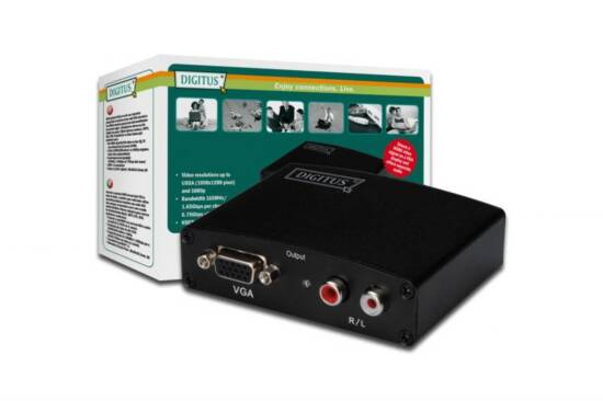 DIGITUS CONVERTITORE VIDEO/AUDIO PER DISPOSITIVI HDMI CON MONITOR VGA