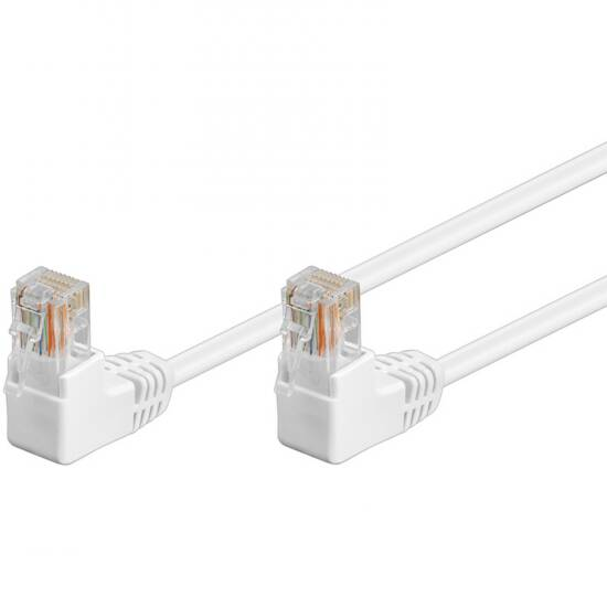 LINK SELECTED CAVO RETE UTP CAT.5E CONNETTORI RJ45 A 90 GRADI MT 2