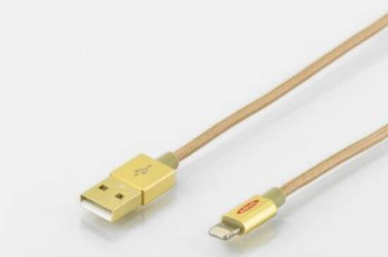 EDNET CAVO LIGHTNING 8 POLI PER APPLE IP5/6 - USB MT 1 COLORE ORO