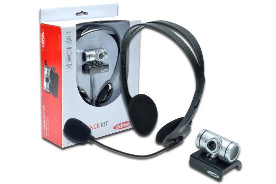 KIT CONFERENZA CON 1 CUFFIA CON MICROFONO E 1 WEBCAM