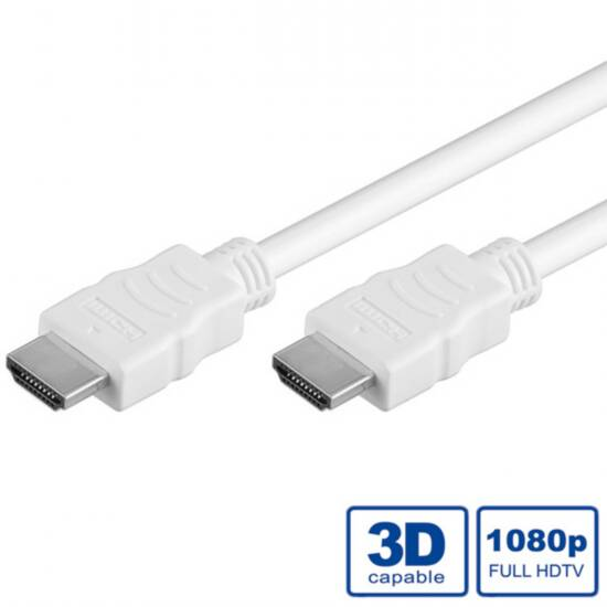 CAVO HDMI 3D HIGH SPEED CON ETHERNET MT 10 BIANCO